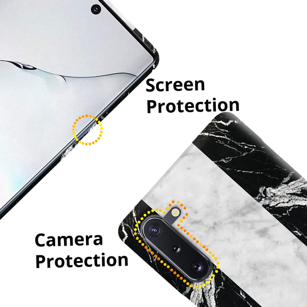 Black Chevrons Marble Cover Case for Samsung Galaxy Note 10