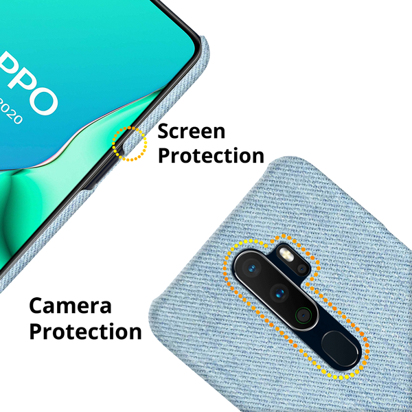 Blue Jeans Cover Case for Oppo A5 2020
