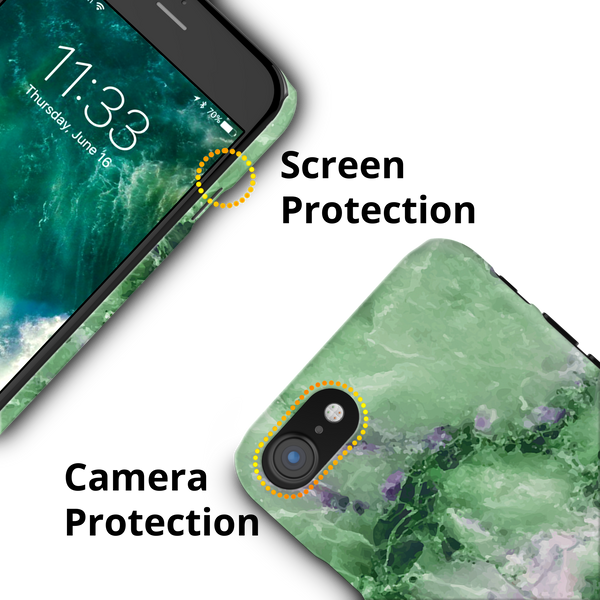 Green Marble Cover Case for iPhone 7/8