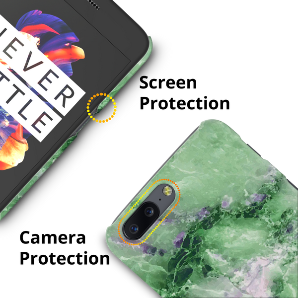 Green Marble Cover Case for OnePlus 5