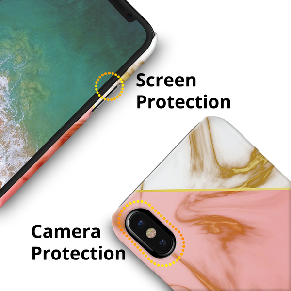 Close Up Marble Cover Case for iPhone XS