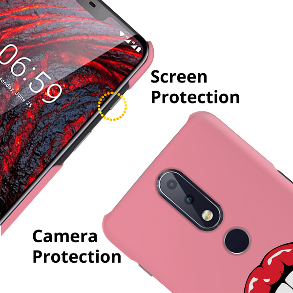 Bitting Lips Cover Case for Nokia 6.1 Plus