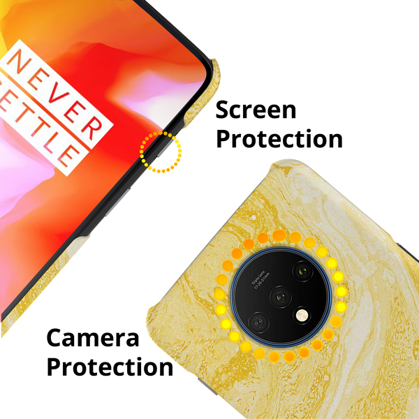Yellow Marble Cover Case for OnePlus 7T