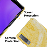 Yellow Marble Cover Case for Samsung Galaxy A7 2018