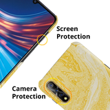 Yellow Marble Cover Case for Vivo S1