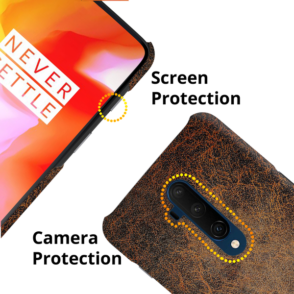 Leather Print Cover Case for OnePlus 7T Pro