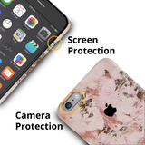 Pink Marble Cover Case For iPhone 6/6S