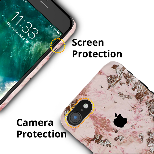Pink Marble Cover Case For iPhone 7/8