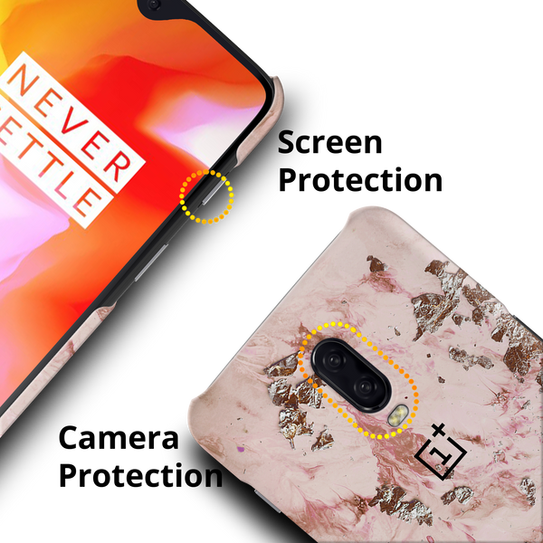 Pink Marble Cover Case For OnePlus 6T