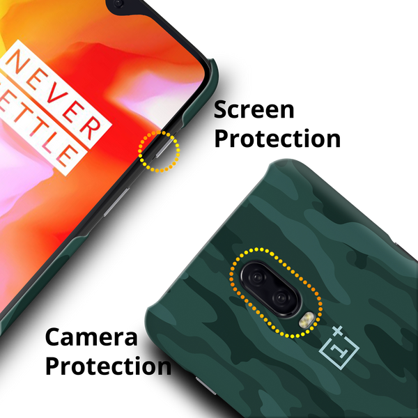 Green Camouflage Cover Case For OnePlus 6T