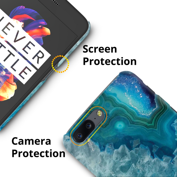 Blue Agate Cover Case for OnePlus 5