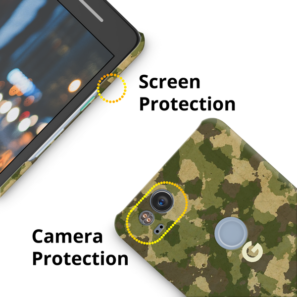 Yellow Camouflage Cover Case For Google Pixel 2