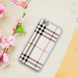 Brown Check Design Cover Case For iPhone 6/6S Plus