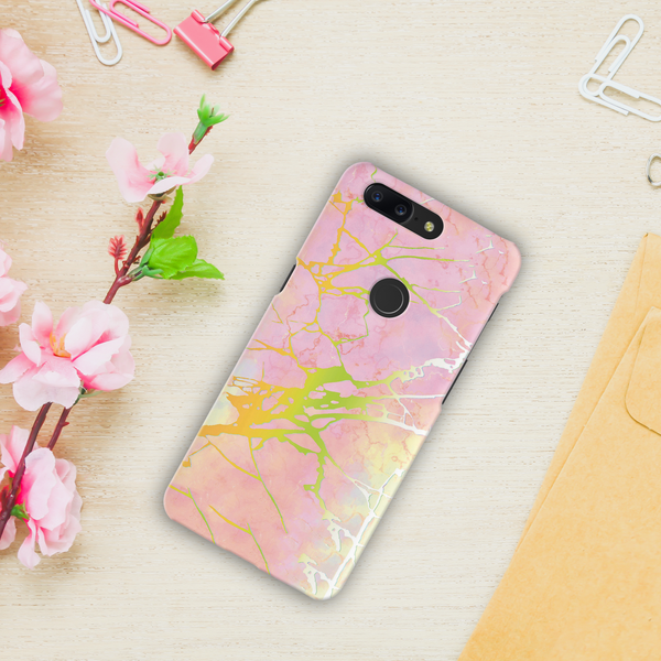 Lovely Pink Marble Cover Case For OnePlus 5T