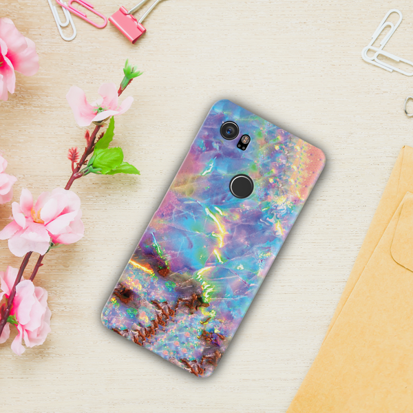 Opal Marble Cover Case For Google Pixel 2 XL