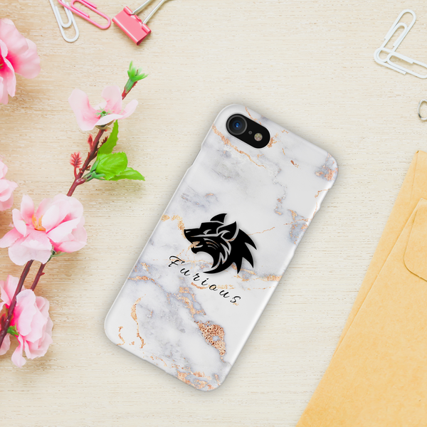Furious Wolf Marble Cover Case For iPhone 7/8