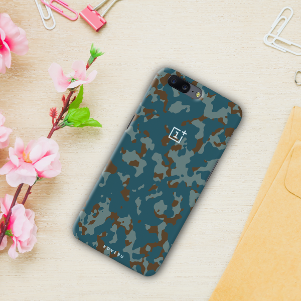 Navy Camouflage Cover Case For OnePlus 5