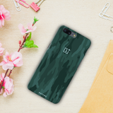 Green Camouflage Design Back Cover Case For OnePlus 5