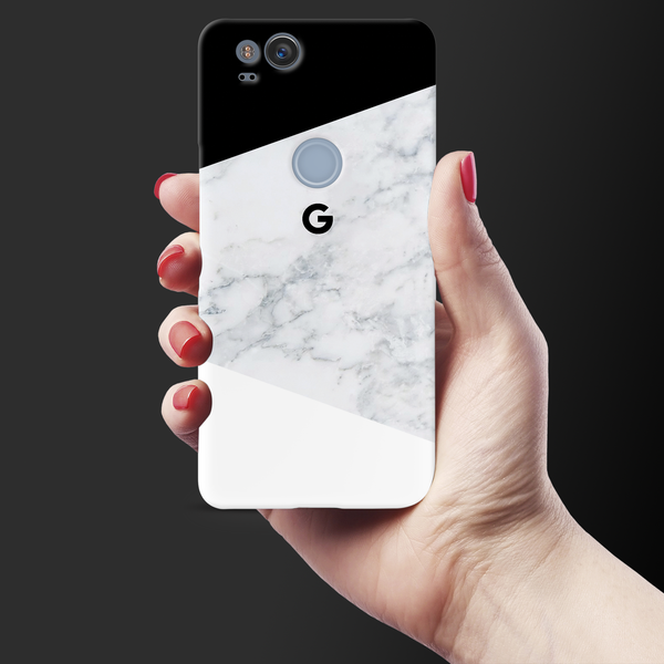 Geometric White Marble Cover Case For Google Pixel 2
