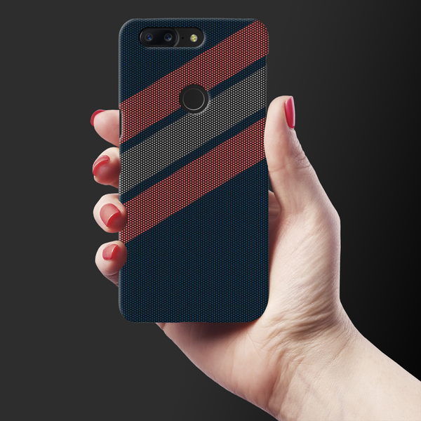 Red Stripes Dots  Cover Case for OnePlus 5T
