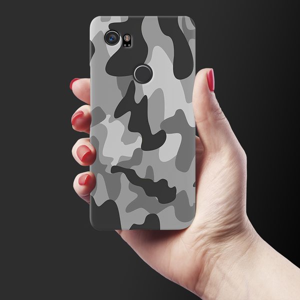 Black Army Camouflage Cover Case For Google Pixel 2 XL