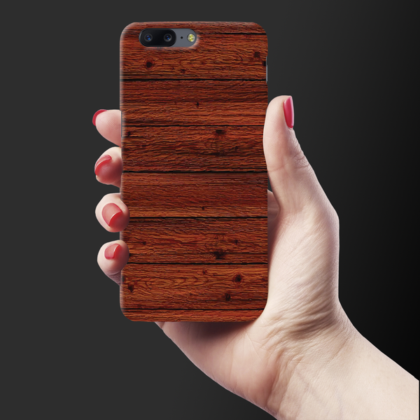 Wooden Printed Cover Case For OnePlus 5
