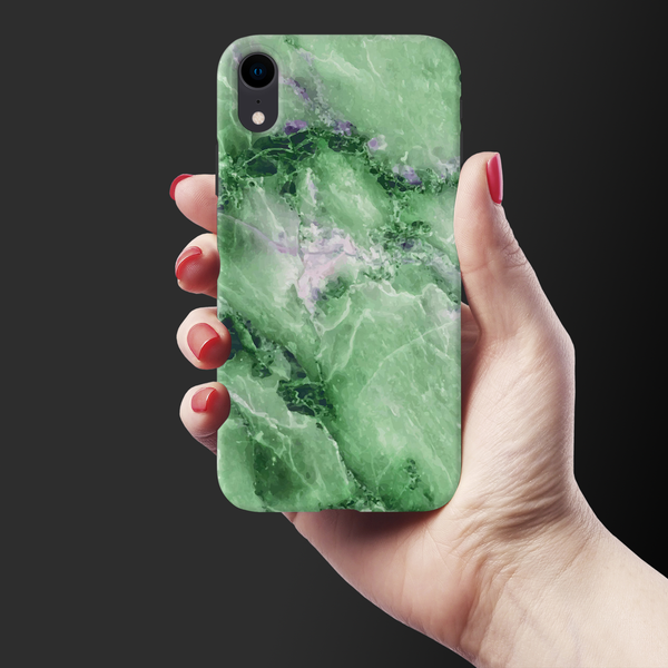 Green Marble Cover Case for iPhone XR
