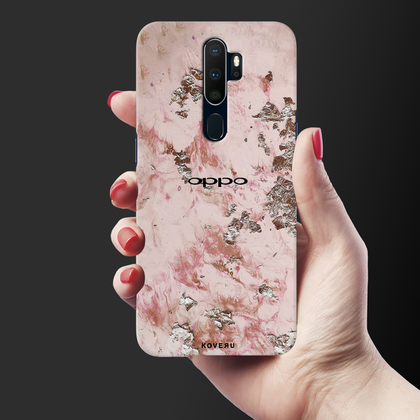 Pink Marble Cover Case for Oppo A5 2020