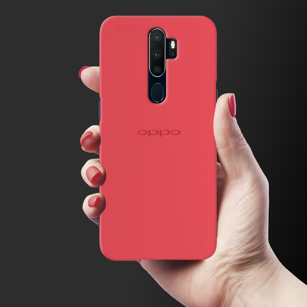 Red Solid Cover Case for Oppo A5 2020