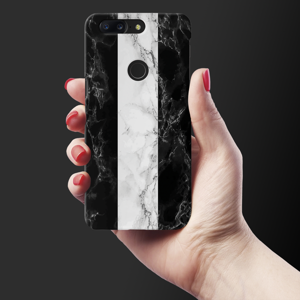 B&W Marble Stripes Cover Case For OnePlus 5T