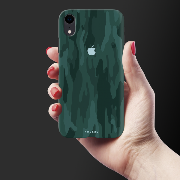 Green Camouflage Cover Case For iPhone XR