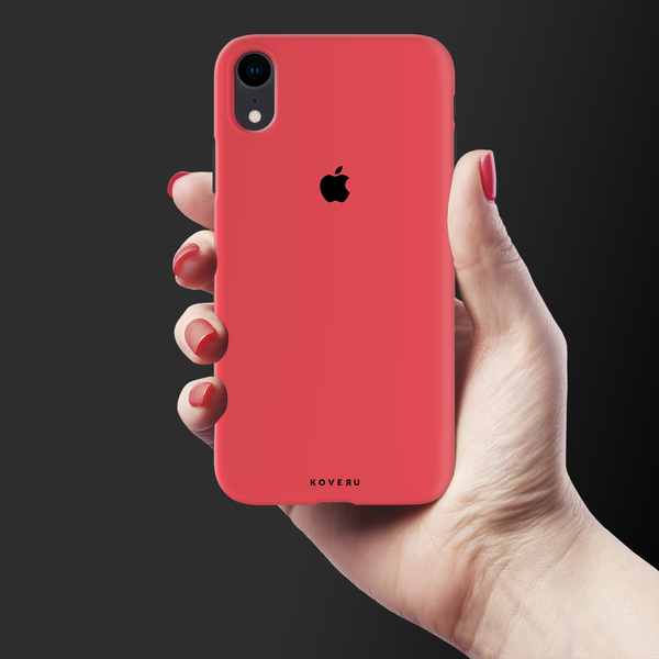 Red Back Cover Case For iPhone XR