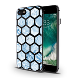 Marble Polygons Clear Case For iPhone 7/8