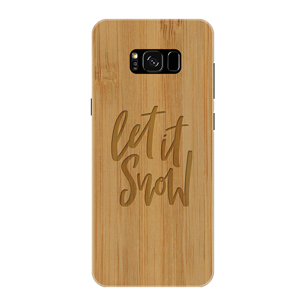 Let it snow Wooden Engraved Cover Case for Samsung Galaxy S8