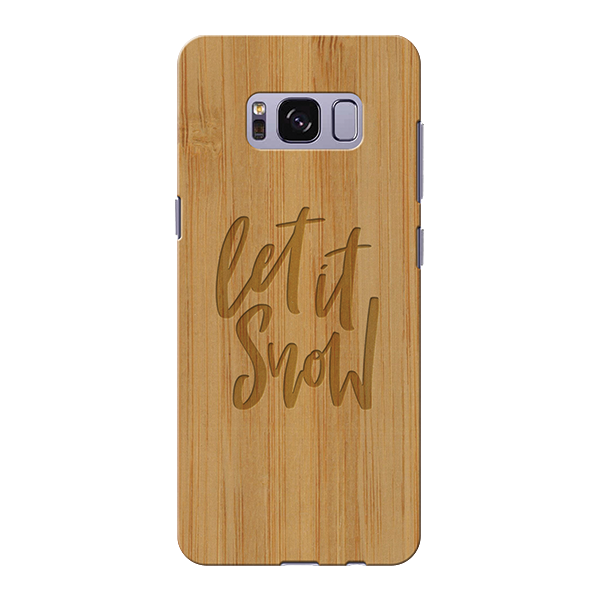 Let it snow Wooden Engraved Cover Case for Samsung Galaxy S8 plus