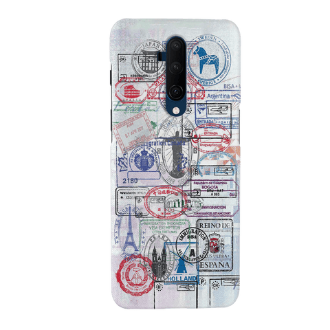 Stamp Cover Case for OnePlus 7T Pro