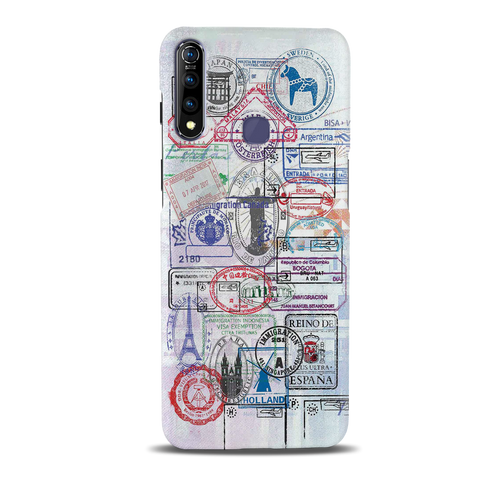Stamp Cover Case for Vivo Z1 Pro