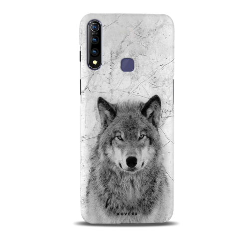 Wolf Marble Cover Case for Vivo Z1 Pro