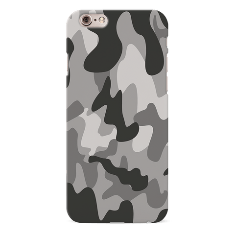 Black Army Camouflage Cover Case For iPhone 6/6S
