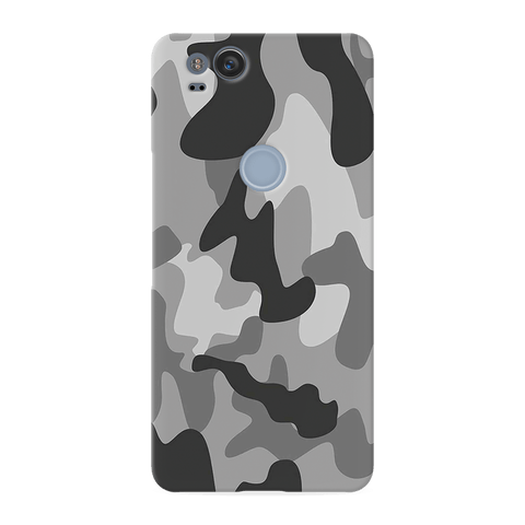 Black Army Camouflage Cover Case For Google Pixel 2