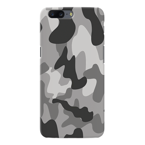 Black Army Camouflage Cover Case For OnePlus 5