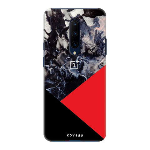 Red Splash Cover Case for OnePlus 7 Pro