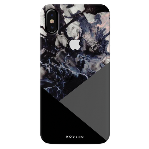 Black and Grey Splash Cover Case for iPhone XS