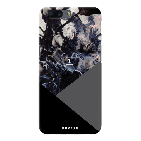 Black and Grey Splash Cover Case for OnePlus 5