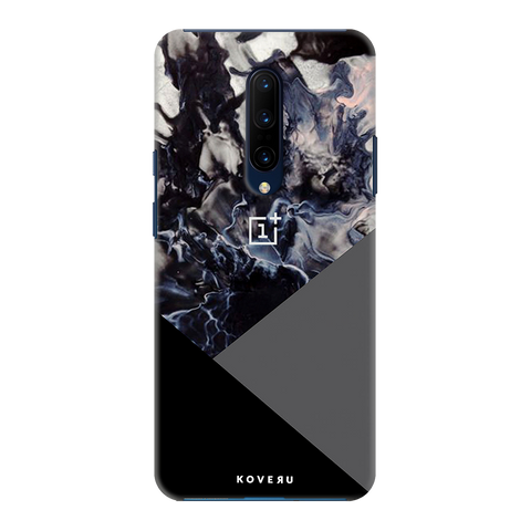 Black and Grey Splash Cover Case for OnePlus 7 Pro