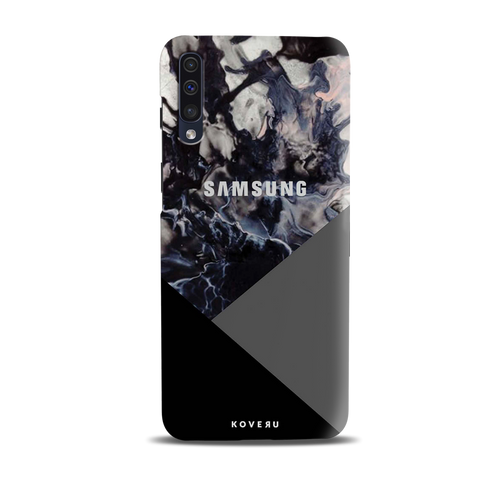 Black and Grey Splash Cover Case for Samsung Galaxy A50