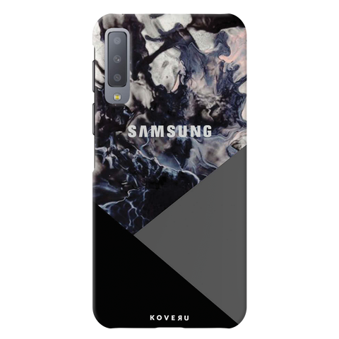 Black and Grey Splash Cover Case for Samsung Galaxy A7 2018
