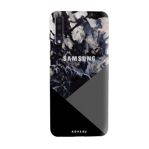 Black and Grey Splash Cover Case for Samsung Galaxy A70
