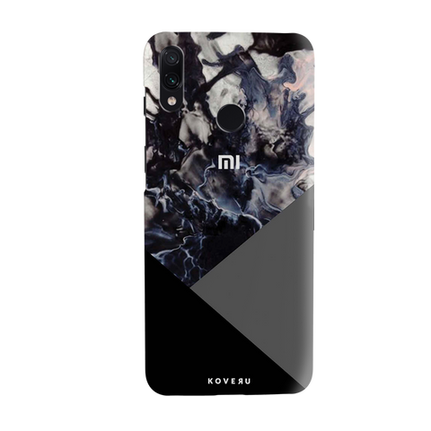 Black and Grey Splash Cover Case for Redmi Note 7 Pro