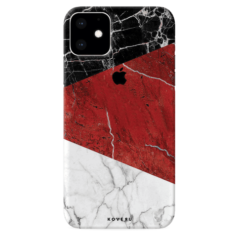 Red Geomatric Marble Cover Case for iPhone 11
